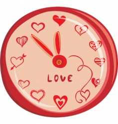 love clock vector image vector image
