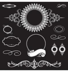 ornament set vector image vector image