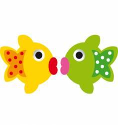 2 fish vector
