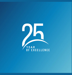 25 year excellence template design vector