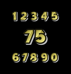 75 years anniversary celebrations set number vector