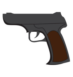 A pistol fire arm or color vector