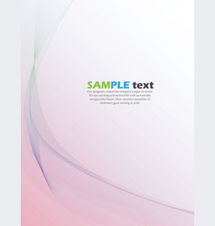 Abstract color wave background poster vector