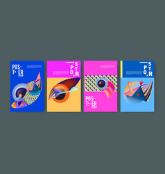 Abstract curvy and geometric colorful background vector