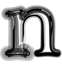 abstract font letter n vector image