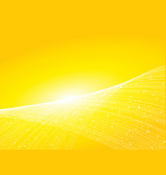 abstract yellow background with lines and small vector image