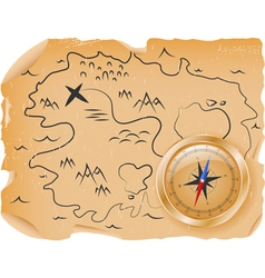 Ancient treasure map vector