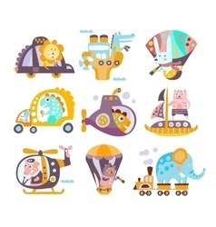 Animals And Transportation Fantasy vector