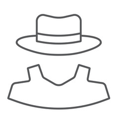 anonymity thin line icon detective and private vector image