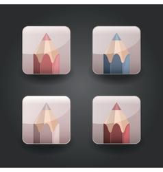 App icons pencil vector image