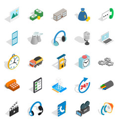 Bad connection icons set isometric style vector