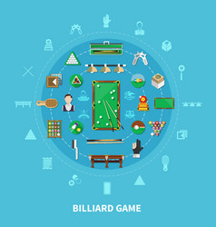 Billiards round composition vector