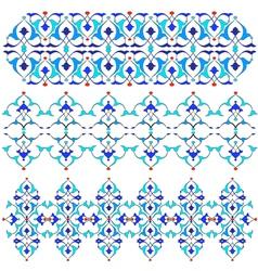 Blue oriental border and ornament fifteen vector
