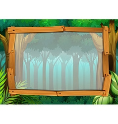 Border design with dark forest vector image