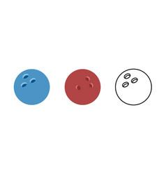 bowling ball ball round circle vector image