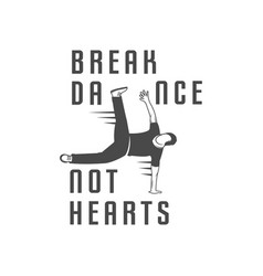break dance school logotype vector image