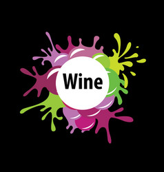 bunch of grapes for wine logo vector image
