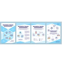 Business travel management brochure template vector
