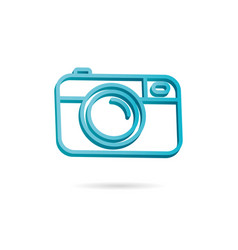 camera icon photo line 3d icon vector image