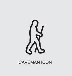 Caveman icon vector