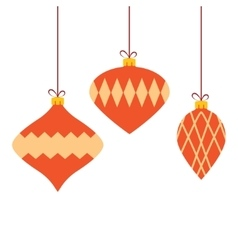 Christmas colorful baubles background vector image