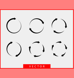 collection arrows background black and white vector image