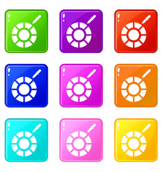 color picker icons 9 set vector image