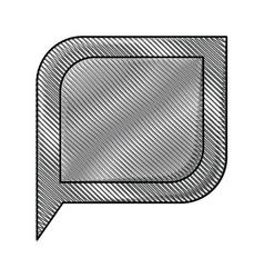 Colored pencil silhouette of bubble speech vector