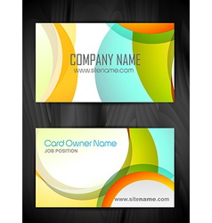 colorful creative business card template vector image