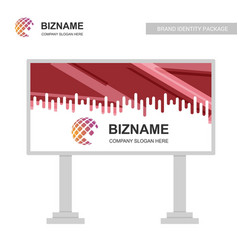 company advertisment bill board with elegent vector image