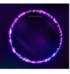 Constellation round frame in space vector