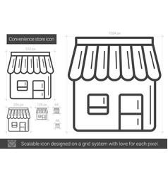 Convenience store line icon vector