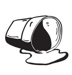 cup spill vector image