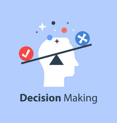 Decision making pros and cons versus concept vector