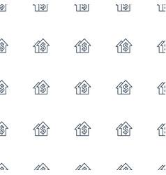 dolar growth icon pattern seamless white vector image