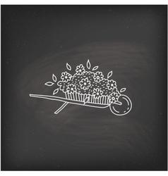 Doodle garden cart vector