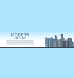 Drawing image of the modern city life vector