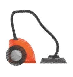 drawing modern vacuum cleaner appliance vector image