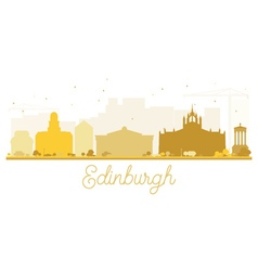 Edinburgh City skyline golden silhouette vector