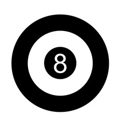 eight ball isolated icon vector image
