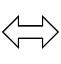 Exchange Horizontal Thin Line Icon vector
