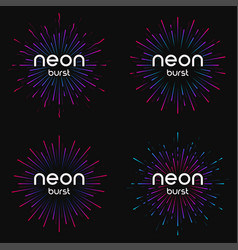 Firework explosions vector