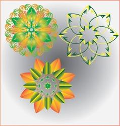 Flower set 1 vector