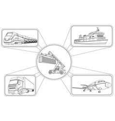 Graphics of Transport Icons vector