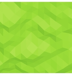 Green abstract triangular background vector image