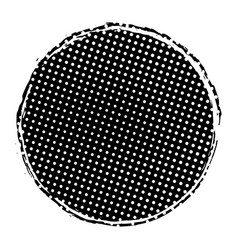 grunge circle stamp vector image