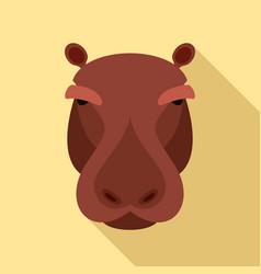 hippopotamus icon flat style vector image