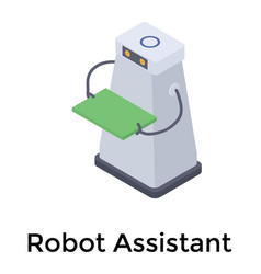 Humanoid robot assistant vector