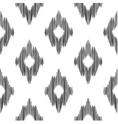 Ikat seamless pattern fashion wallpaper vector