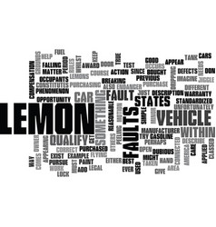 Is it a lemon text background word cloud concept vector